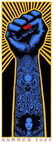 Eryka Badu concert poster  Summer Tour 2005