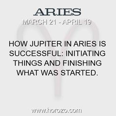 Fact about Aries: How Jupiter in Aries Is Successful: Initiating things... #aries, #ariesfact, #zodiac. Aries, Join To Our Site https://www.horozo.com  You will find there Tarot Reading, Personality Test, Horoscope, Zodiac Facts And More. You can also chat with other members and play questions game. Try Now!
