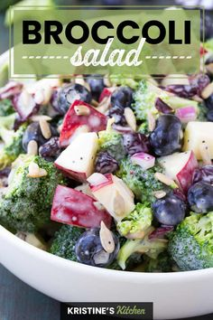 Healthy Broccoli Salad, Healthy Salad Recipes, Vegetarian Salad, Vegan Recipes, Cooking Recipes, Budget Cooking, Healthy Zucchini, Chef Recipes, Pizza Recipes