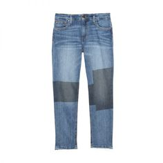 """- """"I love the patchwork effect on these jeans—it's a key trend right now thatwill stay strong for spring.""""Joe's Jeans Women's Ex-Lover Boyfriend Straight Ankle Patchwork Jean, $49 - $318"""