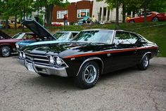 1969 Chevelle SS Ours will look like this someday! Best Muscle Cars, American Muscle Cars, Sexy Cars, Hot Cars, My Dream Car, Dream Cars, 1969 Chevy Chevelle, Amazing Cars, Awesome