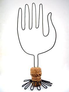 Wire Hand Sculpture contemporary folk art