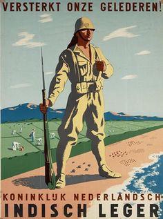 "Dutch WW2 ""Strengthens our ranks! Koninkluk Netherlands. Indian Army"""