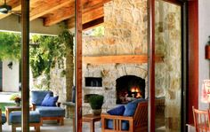 Wood fired oven and fireplace outdoor lounge combo