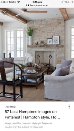 Gas Fireplace, The Hamptons, Entryway Tables, Family Room, Carpet, Lounge, Furniture, Home Decor, Style