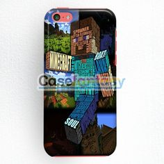 Minecraft Steve Typograpghy iPhone 5C Case | casefantasy