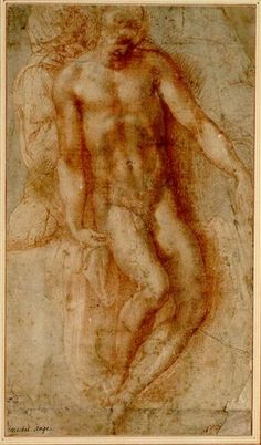 MICHELANGELO Buonarroti The Lamentation of Christ Red chalk over black chalk, 411 x 234 mm Graphische Sammlung Albertina, Vienna Life Drawing, Figure Drawing, Drawing Sketches, Caravaggio, Miguel Angel, Michelangelo Sculpture, Michelangelo Pieta, Italian Sculptors, High Renaissance