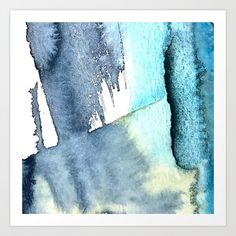 Untitled #40 Art Print Cyanotype, Watercolor Sketch, Collage Art, Sketches, Tapestry, Art Prints, Abstract, Artwork, Fabric