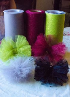 Easy Tulle Hair Bow Tutorial - Nina Says -- Click image for more details.