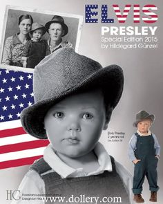 'Elvis Presley' designed by Hildegard 35 dolls worldwideGünzel