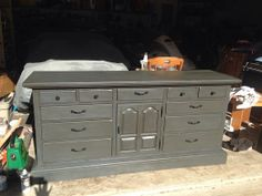 Ethan Allen Triple Dresser Refinished With By Whimsicallychicfurn 475 00 Refinish Furniture