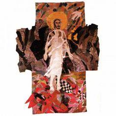 "Else-Marie Jakobsen / absolutetapestry.com  ""Graven brast "" - 1984 400x200cm"