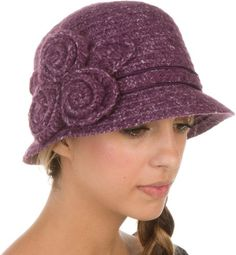 Sakkas Womens Vintage Style Cloche Bucket Bell Hat with Flower Accent $25.00