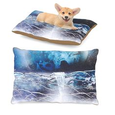 "Infinite Spray Art ""Surreal Falls"" Blue Planet Dog Bed"