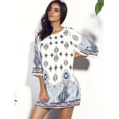 Casual Scoop Neck Floral Print Hollow Out Dress For Women | TwinkleDeals.com