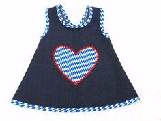 """Schwedenschürze    """"bayrisch""""    mein Herz schlägt a bayrisch für die junge Generation ♥♥    super süßes Schürzenkleid, mit liebevoll genäht und ve..."""