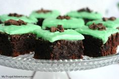 Mint Brownies recipe - these are addicting! #stpaddys day