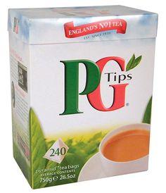 Englands favorite tea!  PG Tips 240 Pyramid Tea Bags