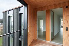 Wohnüberbauung Hagmannareal, Winterthur - weberbrunner architekten Winterthur, Garage Doors, Outdoor Decor, Home Decor, Craft Business, Human Settlement, Landscape Diagram, Ground Floor, Types Of Wood