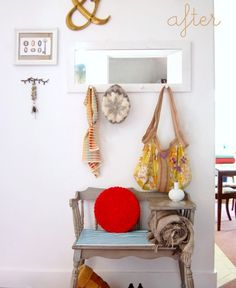 before and after: telephone table http://www.goinghometoroost.com