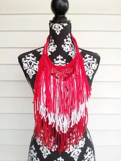 Hand Crocheted Delta Sigma Theta Bohemian Statement by BlackPearl, $35.00