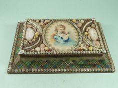 Victorian Sailors Shell Valentine Maritime Souvenir Box