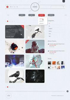 Minima Creative Portfolio PSD by Dan Ambrosevich, via Behance
