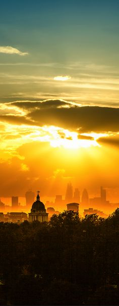 Sunset in London, England, UK