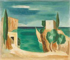 ΟΜΗΡΙΚΟ ΑΚΡΟΓΙΑΛΙ, Γερ. Στέρης George de Steris or Guelfo Ammon d' Este (Gerasimos Stamatelatos) Greek painter 1898-1987