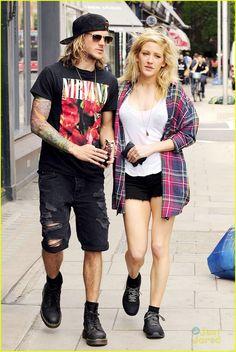 Ellie Goulding Cuddles With Boyfriend Dougie Poynter After ...
