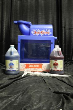 Sno Cone Machine with Blue Raspberry and Cherry Floss, cones and a pump. The perfect way to cool off on a hot day! Candy Games, Sno Cones, Hot Days, Pump, Raspberry, Cherry, Success, Cool Stuff, Party