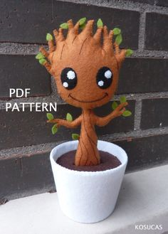 PDF pattern to make a felt Groot.