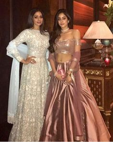 Competing with #JanviKapoor is the timeless diva #Sridevi as the mother-daughter duo dress up in #ManishMalhotra outfits!