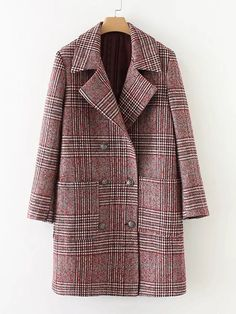 Shop Double Breasted Check Coat online. SheIn offers Double Breasted Check Coat & more to fit your fashionable needs.