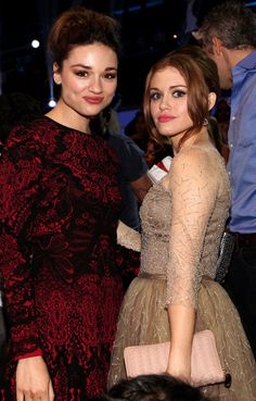 Crystal Reed and Holland Roden on the scene at the 2012 MTV Video Music Awards in Los Angeles. | MTV Photo Gallery