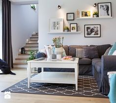 Salon w stylu skandynawskim - zdjęcie od Kwadraton  Living room | Scandinavian design | home inspiration | design | decoration | home