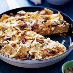 Matzo Brei with Mushrooms | MyRecipes.com #Passover