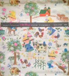 Children on the Farm Gift Wrap  Color by SmilingSamCollection