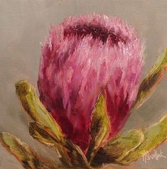 daily painting by Heidi Shedlock Protea Art, Diy Canvas Art, Different Flowers, Flower Patterns, Flower Art, Painting Flowers, Art Projects, Around The Worlds, Fine Art