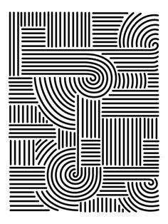 b&w pattern - Aaron De la Cruz #pattern