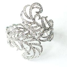 Wedding Bracelet Cuff with Diamantes