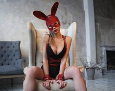 BDSM set | Body harness Rabbit mask Handcuffs | Bdsm lingerie | Bdsm mask | Sexy costume |  Bdsm costume | Gift for her | leather harness -    Edit Listing  - Etsy