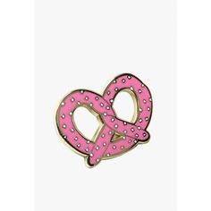 Bracelegs Collective Pretty Pretzel Pin (505 RUB) ❤ liked on Polyvore featuring jewelry, brooches, enamel brooches, pin brooch, enamel jewelry and pin jewelry