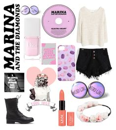 """Teen Idle//Marina And The Diamonds ♢"" by fashiongirlxcx ❤ liked on Polyvore featuring moda, MANGO, Full Tilt, Forum, Christian Dior, Hipster, teenidle, marinaandthediamonds y electraheart"