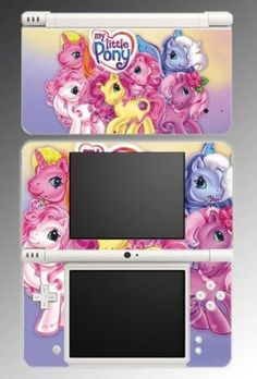 My Little Pony Friendship is Magic Equestria Cute Cartoon Cutie Mark Video Game Vinyl Decal Cover Skin Protector #1 for Nintendo DSi XL