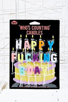 Happy F*cking Birthday Candles - Urban Outfitters
