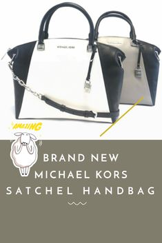 2aa6c7e81b20 Brand new women's michael kors sadie large top zip leather satchel bag  handbag