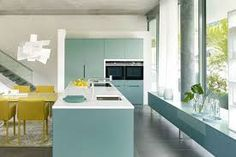 design trends 2021 - Google Search Interior S, Kitchen Interior, Kitchen Decor, Interior Design, Kitchen Cabinetry, Kitchen Shelves, Green Kitchen, Kitchen Colors, Layout Design