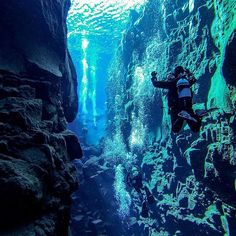 Up for some diving in Silfra, Iceland? Photo by @sridenoursyz ! #MyStopover