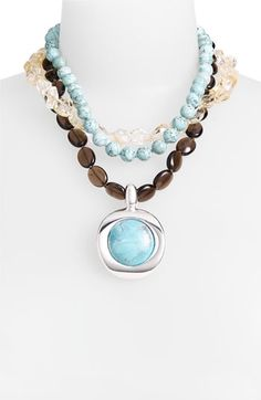 Simon Sebbag 'Sante Fe' Triple Strand Pendant Necklace | Nordstrom - StyleSays